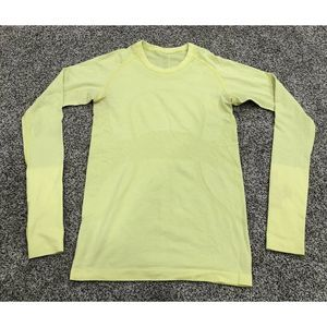 Lululemon 6 Swiftly Tight Fit Active Shirt Yellow